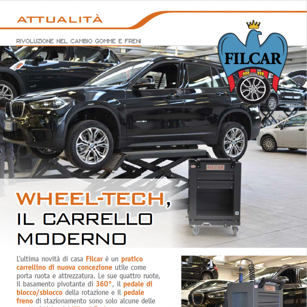 Wheel-tech by Filcar, carrellino pivotante porta ruota e attrezzatura